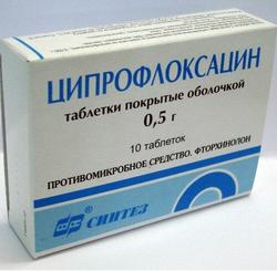 Ципрофлоксацин: инструкция по применению